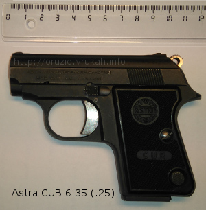 The Astra «Cub» pistol (model 2000) caliber 6.35 mm (.25)